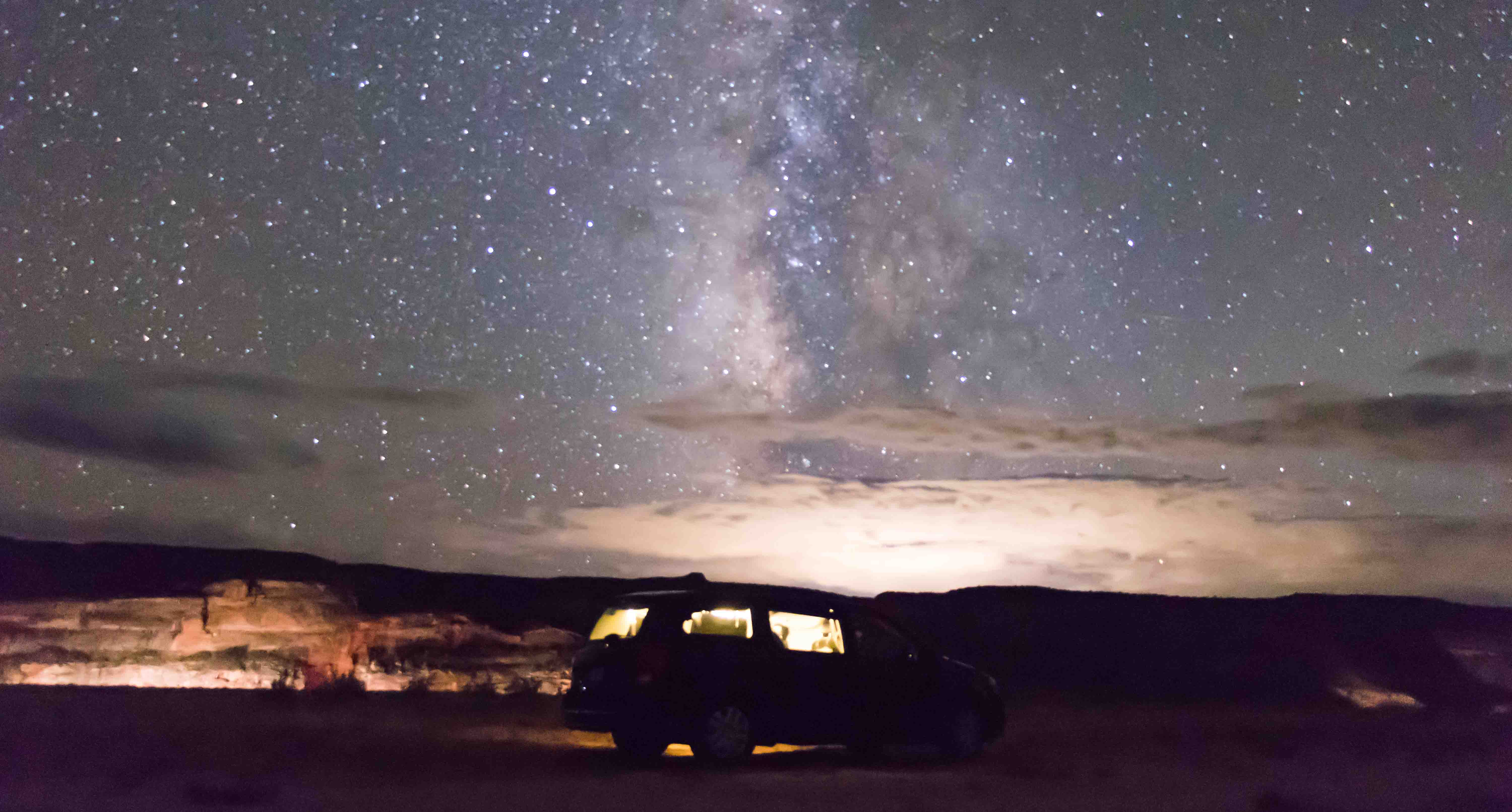 Sleeping under the stars, anywhere
