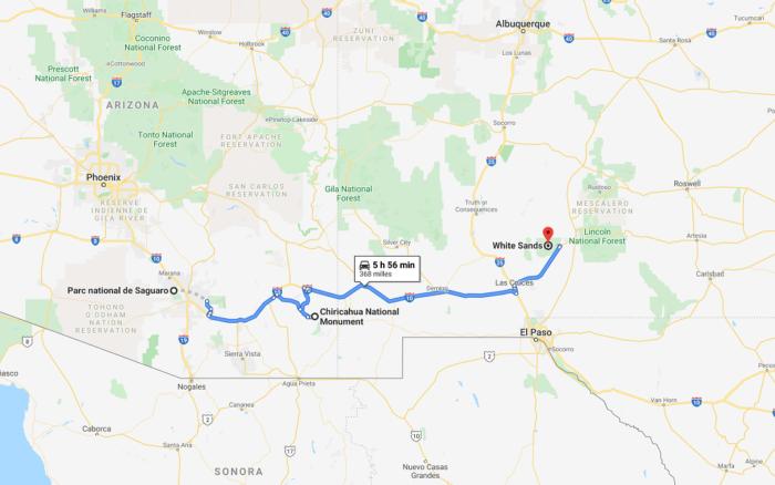 between Saguaro and Chiricahua